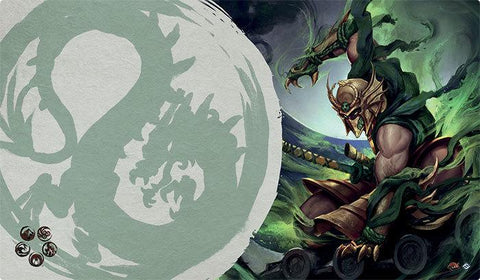L5R LCG - Playmat - Master of the High House of Light (Dragon)