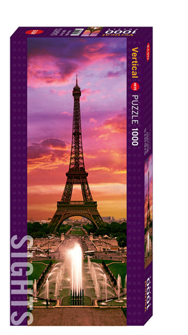 Jigsaw Puzzle: HEYE - Sights Night in Paris (1000 Pieces)