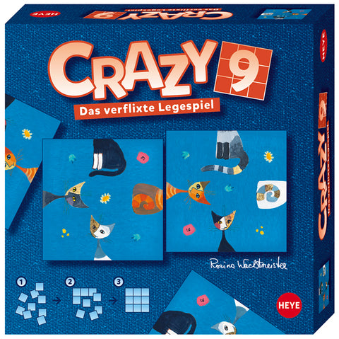 Jigsaw Puzzle: HEYE - Crazy 9 - Wachtmeister Cats
