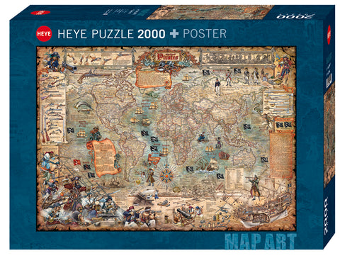 Jigsaw Puzzle: HEYE - Map Art Pirate World (2000 Pieces)