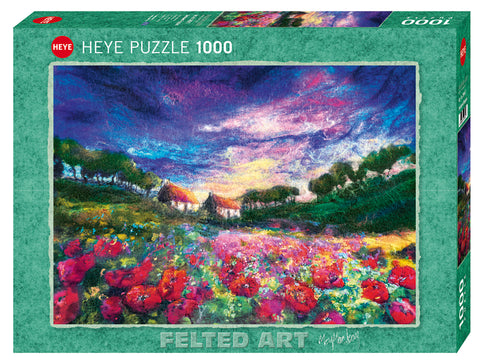 Jigsaw Puzzle: HEYE - Felted Art Sundown Poppies (1000 Pieces)