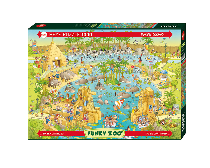 Jigsaw Puzzle: HEYE - Nile Habitat (1000 Pieces)