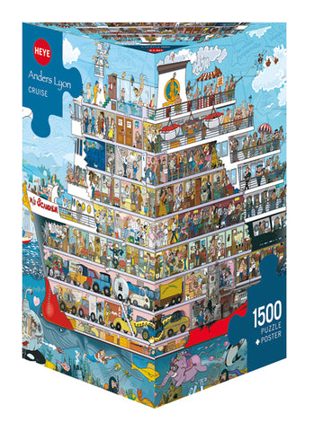 Jigsaw Puzzle: HEYE - Lyon Cruise (1500 Pieces)