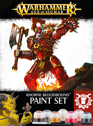 WH AoS: Khorne Bloodbound - Paint Set