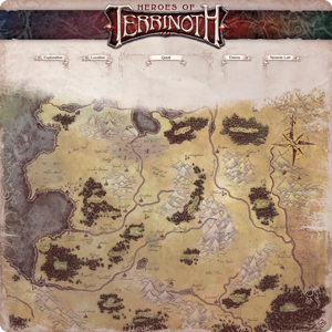 Heroes of Terrinoth: The Adventure Card Game - Gamemat