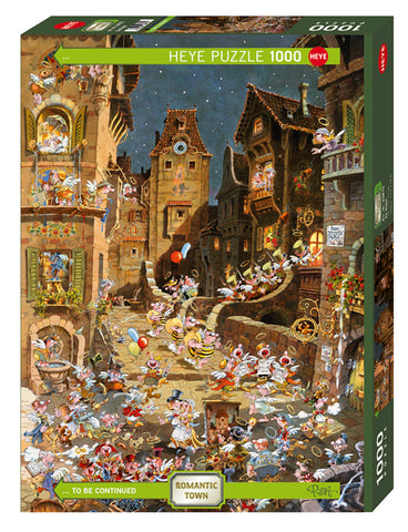 Jigsaw Puzzle: HEYE - Ryba Town By Night (1000 Pieces)