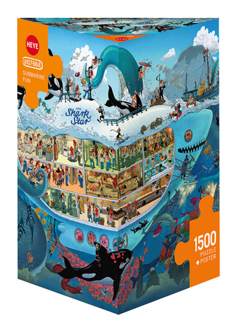 Jigsaw Puzzle: HEYE - Oesterle Submarine Fun (1500 Pieces)