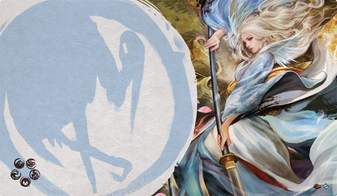 L5R LCG - Playmat - Left Hand of the Emperor (Crane)