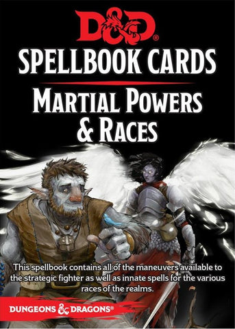 D&D RPG: Spellbook Cards: Martial Powers & Races