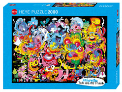 Jigsaw Puzzle: HEYE - New Psychedoodlic (2000 Pieces)