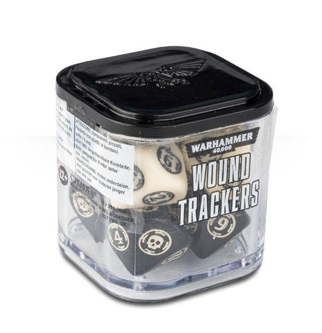 Warhammer 40K: Wound Trackers - Ivory and Black