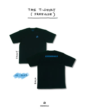 ESSENSHALS LOGO T-SHIRT IN BLUE (FREE SIZE)