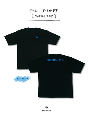 ESSENSHALS LOGO T-SHIRT IN BLUE (OVERSIZED)