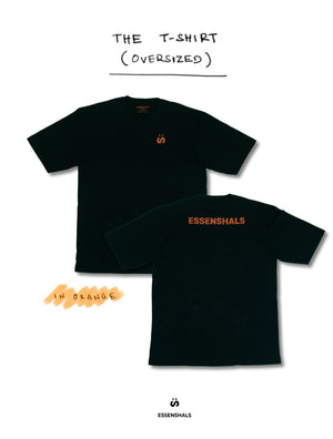 ESSENSHALS LOGO T-SHIRT IN ORANGE (OVERSIZED)