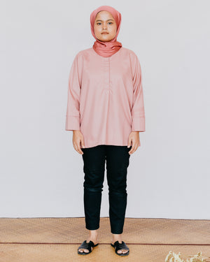 Adria Top in Dusty Pink