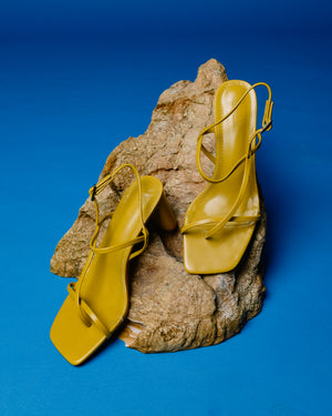 Rita Heels in Yellow