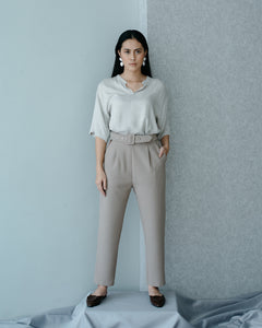 Marlyn Pants in Silver Chalice