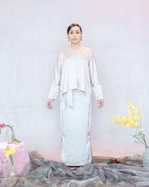 Joan Kurung in Silver