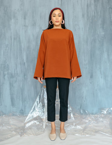 Poppy Top in Tangerine
