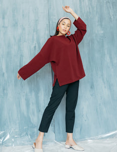 Poppy Top in Maroon