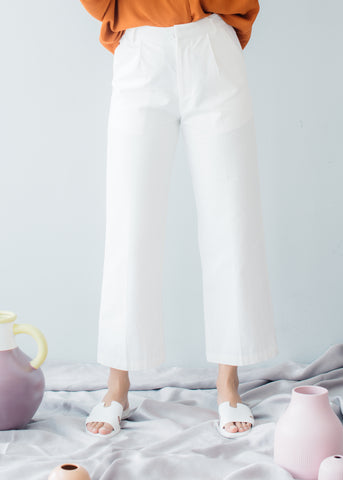 Melba Pants in White - SHALS