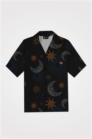 PMC x SHALS Blessings in The Skies Bowling Shirt in Black