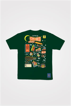 PMC x SHALS Fireworks Tee in Forest Green