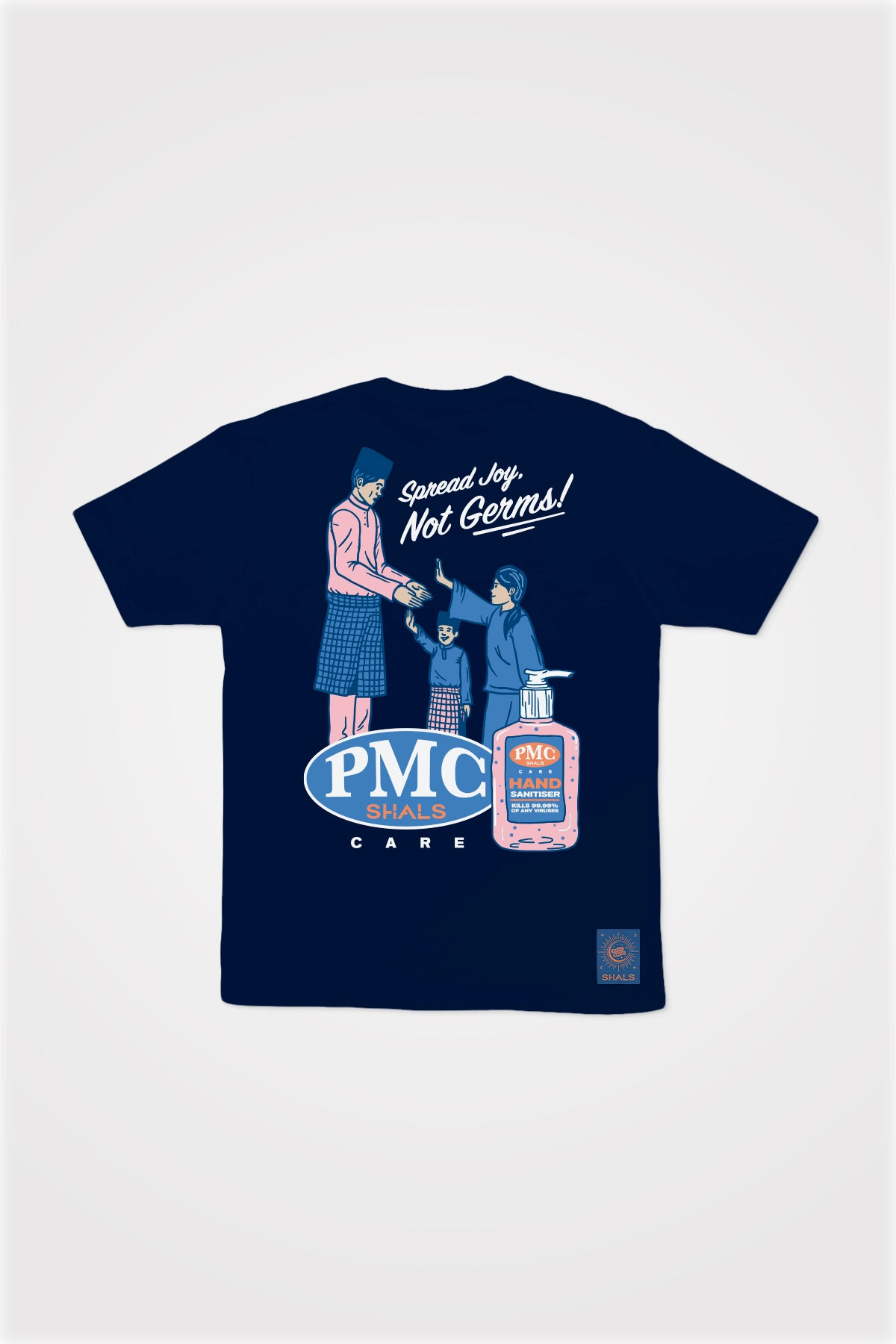 PMC x SHALS Sanitizer Tee in Navy Blue