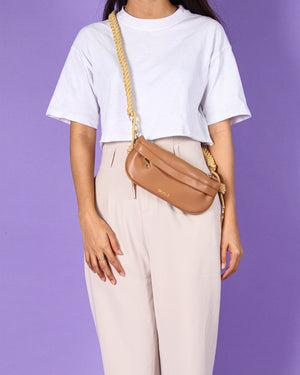 Jeanny Fanny Pack in Nude Brown