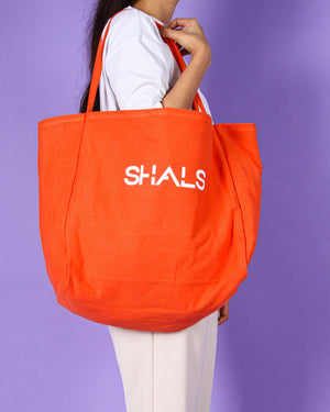 Penelope Shopping Bag in Orange