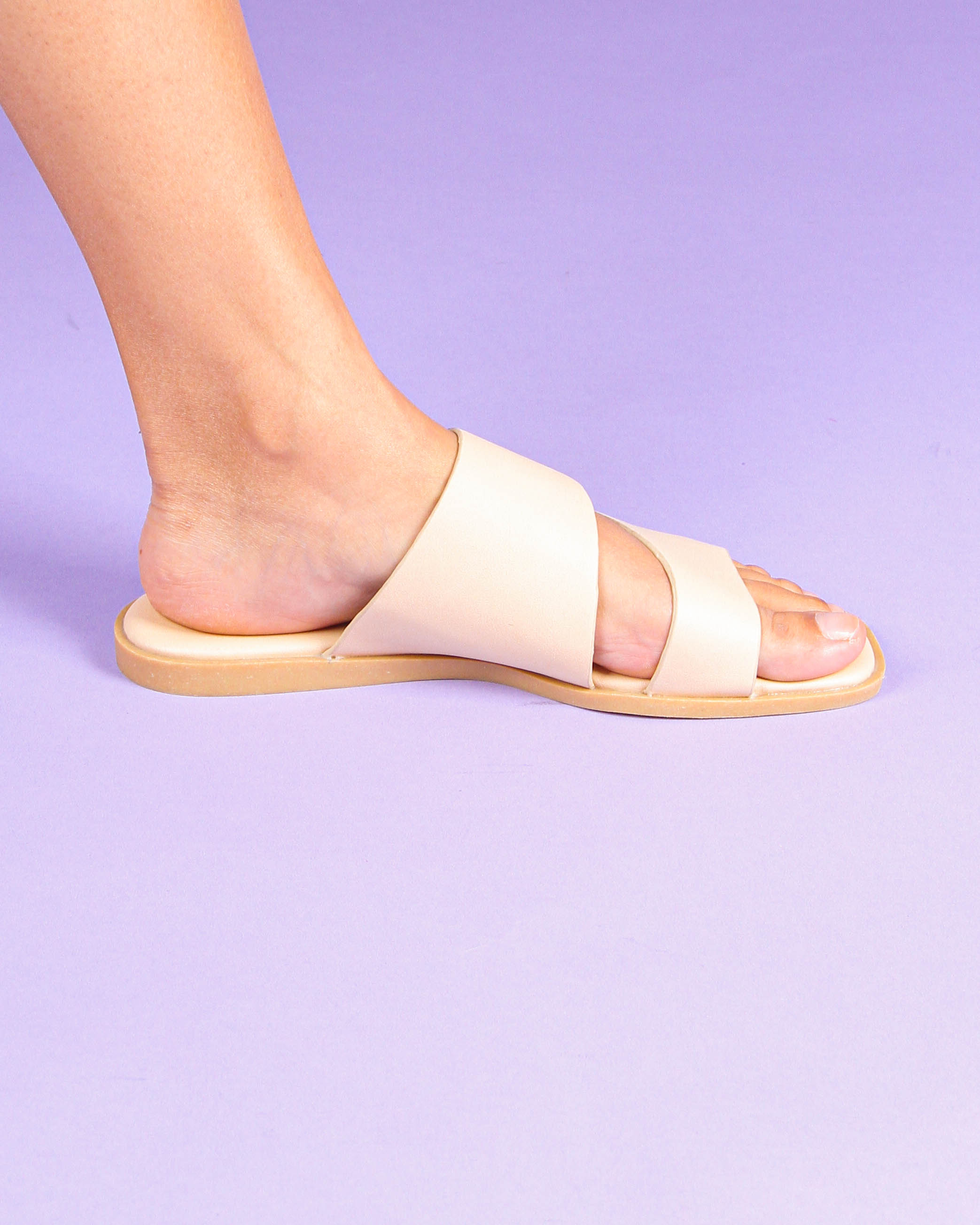Duo Strappy Sandals in Beige