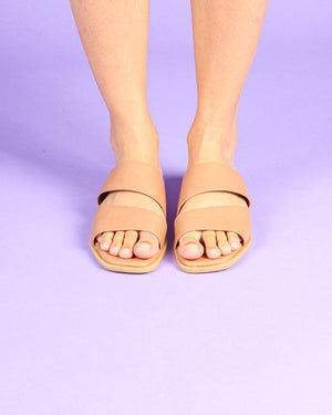 Duo Strappy Sandals in Brown