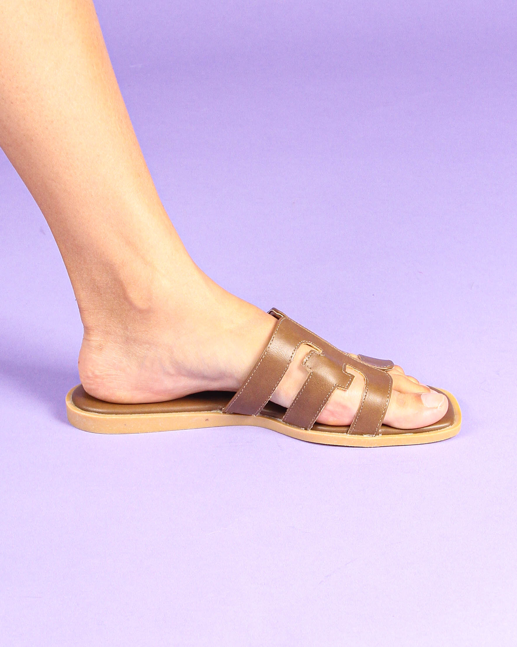 T-Bar Sandals in Taupe
