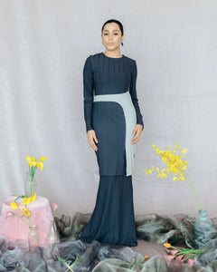 Candice Kurung in Navy Blue - SHALS