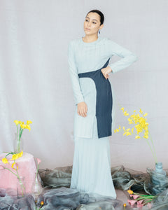 Candice Kurung in Light Grey - SHALS