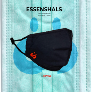 ESSENSHALS REUSABLE FACE MASK IN ORANGE