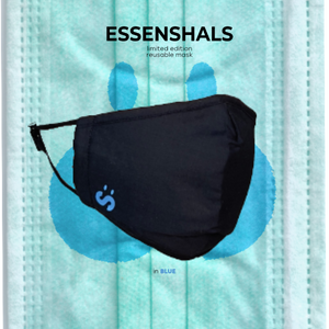 ESSENSHALS REUSABLE FACE MASK IN BLUE