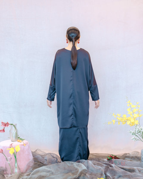 Joan Kurung in Blue Black - SHALS
