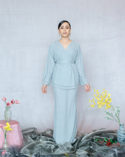 Qayra Kurung in Grey - SHALS