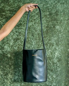Kendall Bucket Bag in Black