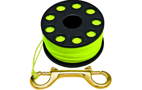 Finger Spool with Clip and 150' Yellow Line