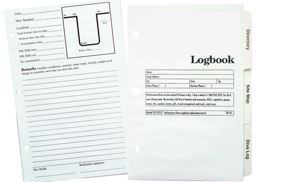 Innovative Scuba Dive Log Refill Pages 3 or 6 Ring Binder