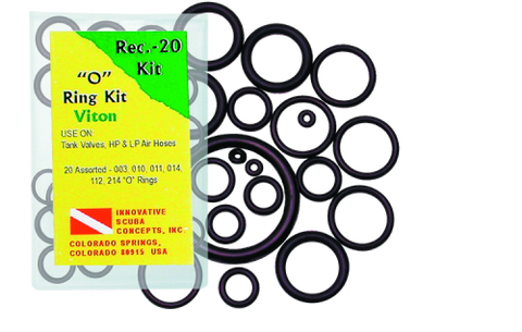 Recreation Diver 20 pc Save a Dive O-Ring Kit Buna Rubber