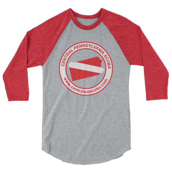 Central Pennsylvania SCUBA 3/4 Sleeve Raglan Shirt