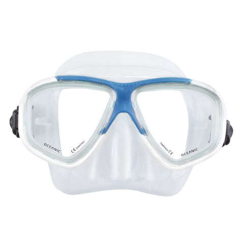 Oceanic ION Mask Blue and Clear with Neoprene Strap