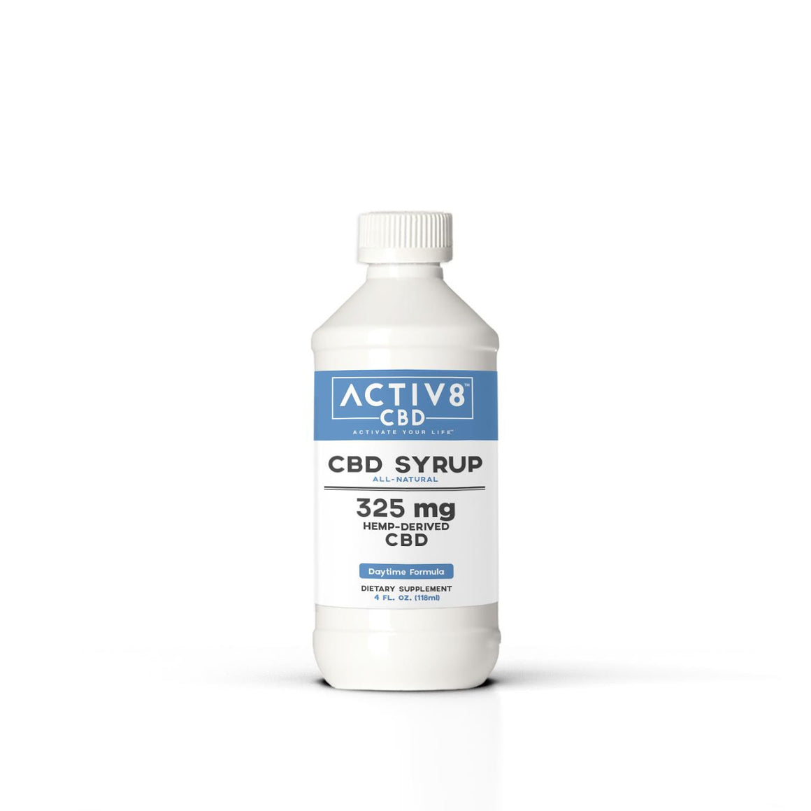 ACTIV8 SYRUP (Daytime Formula) All-Natural - (325mg CBD Per Bottle - 8+ Servings) - Helps Relieve Mild Pain, Stress, Anxiety and More