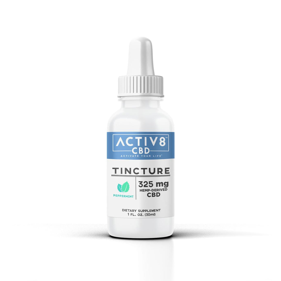 ACTIV8 CBD Tincture (325 mg of CBD - Helps relieve mild pain, stress, anxiety, insomnia and much more)