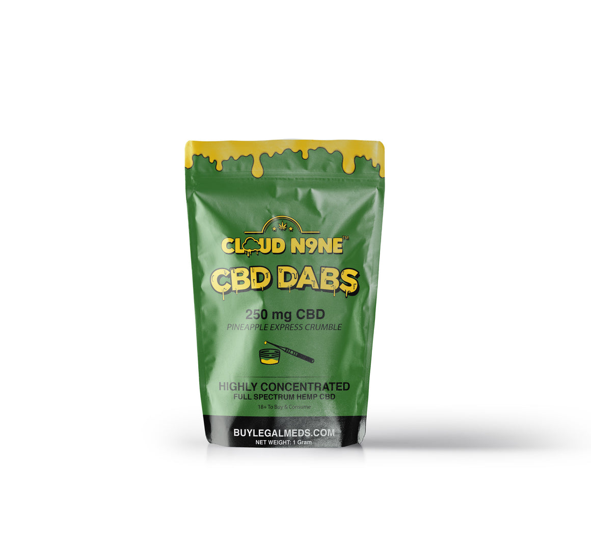 Cloud N9ne CBD Dabs (Crumble) - 1 Gram (250mg of CBD - Helps relieve anxiety, stress, mild pain and more)