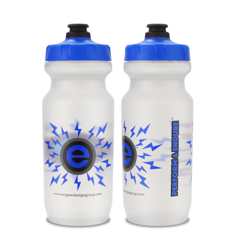 NGN Sport – High Performance Bike Water Bottles – 21 oz | Clear & Blue (2-Pack)