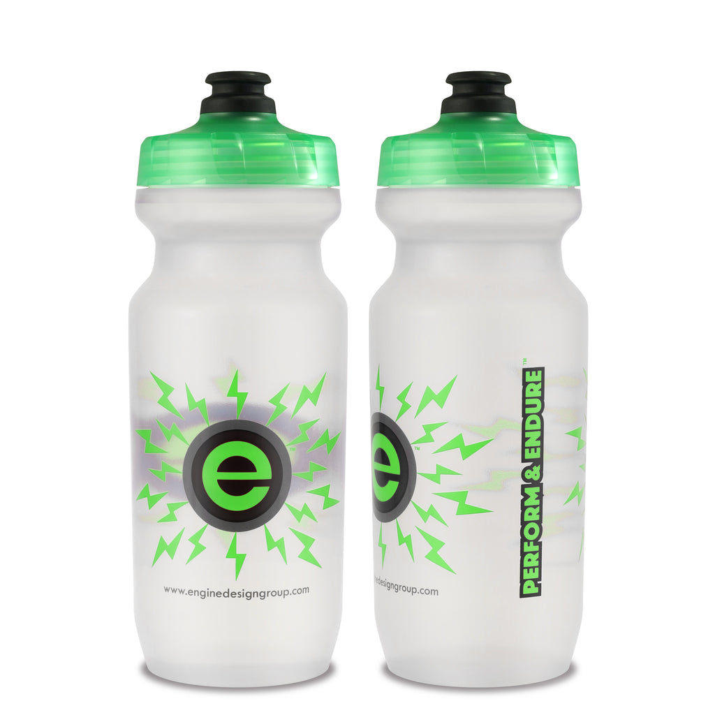NGN Sport – High Performance Bike Water Bottles – 21 oz | Clear & Green (2-Pack)